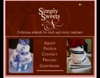 Simply Sweets Website Splash