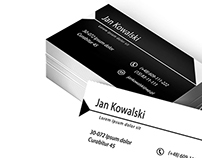 Simply black & white business card