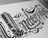 'Underrated' handlettering