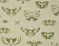 Screen Print Wallpaper