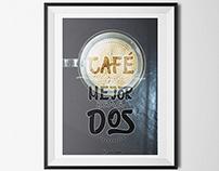 El café - Lettering