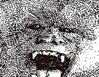 Monkey pointillism