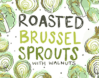 Brussel Sprouts // Illustrated Recipe Card