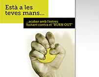 """Concurso de carteles """" A la feina cap risc 2013"""""""