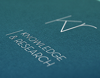 Knowledge & Research, logo and stationary