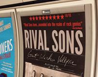London Underground Album Release Posters.