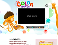 Web page layout for Kids game