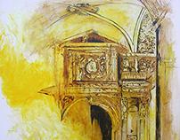Trazo de puertas sobre amarillos
