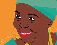 Cesaria Evora Cabo Verde (album redesign)