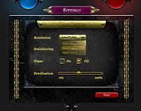 Fantasy RPG Game User Interface