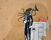 Pulpo con sombrilla / Octopus with umbrella