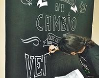 AnimaNaturalis Lettering Mural