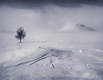 Storm in arctic desert