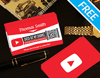 Free YouTube Business Card Template