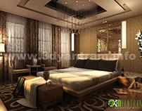 Modern 3D Interior Inspiration Hotel Room Design View