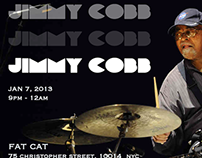 Jimmy Cobb, Jazz Legend, Live at Fat Cat Promo Poster