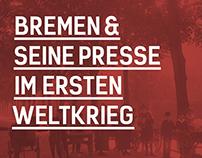 Bremen Und Seine Presse Im Ersten Weltkrieg