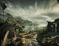 CG Society Matte Painting - Viking Village Challenge