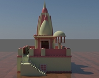 Temple model in 3ds max ,mental ray light and render