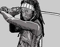 Michonne drawing