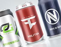 eSports Pro Team Soda Cans