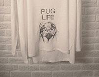 T-shirt PUG LIFE 2K14 Drypoint