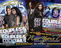 Couples And Cocktails New Year's Eve Flyer