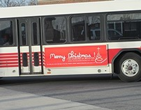 Merry Christmas Bus Advertisement