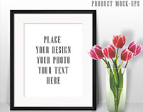Tulips & Black Frame Mock-ups