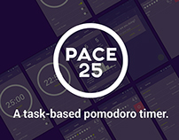 Pace 25: Pomodoro Timer (Material Design UI)