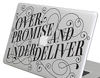 Macbook decal typography