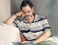 Process of a portrait