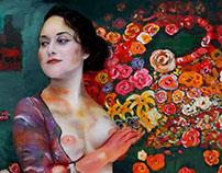 Gustav Klimt bodypainting project