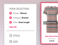 Dress Shop UI