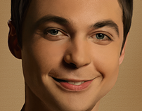 Painting Jim Parsons (Sheldon Cooper)