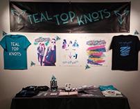 Teal Top Knots