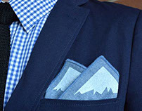 OUTSIDE / INSIDE pocket square