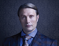 Hannibal TV Series Gradient Mesh Poster