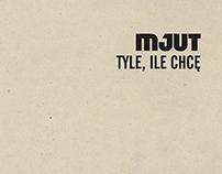Minimalist promo single of band called Mjut