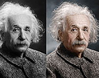 Albert Einstein Colorized