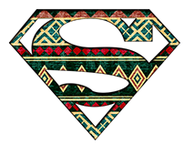 Super Hero African Pattern