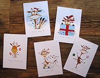 Giraffe Christmas Cards