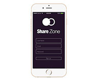 Share Zone Mobile Application Design on Mockup