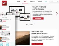 Clean Flat Webdesign