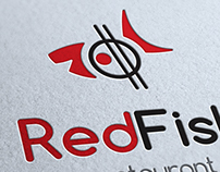 Red Fish Sushi Logo Template