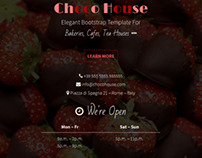 Choco House - Bootstrap Bakery and Cafe Template