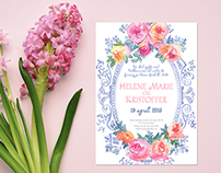 """Wedding stationary design. """"In Blossom"""" collection"""
