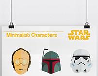Minimalist Characters : Star Wars