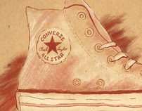 Converse Shoe Mock Style Frame