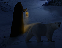 Walking with my Bear in the Snowboard